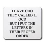 I don't have OCD but thought this was funny