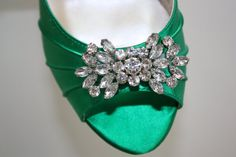 Emerald Green Wedding Shoes by Parisxox on Etsy, $154.00 @Kristen Damazio