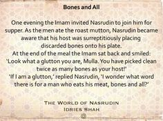 A meal with Nasrudin: