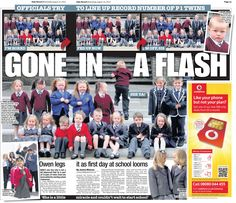 Inverclyde twins start school. Daily Record 14th August by Mark Sutherland