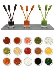 Sauce Pipets!   Cook with creativity using products from Qorpak,  https://www.amazon.com/l/5437019011