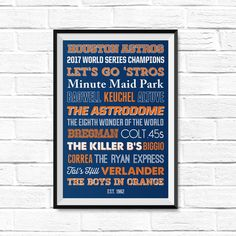 Houston Astros - World Series Champions 2017 - poster - astros poster- christmas gift - etsy gift - houston astros gift - astros gift - astros christmas gift Minute Maid Park, Ppg Paint, Lets Go Pens, Western Michigan, Detroit Red Wings, Pittsburgh Penguins, Houston Astros, Canvas Size, Canvas Wall Art