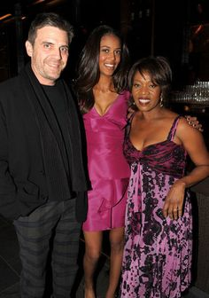 Roderick Spencer & Alfre Woodard and their daughter.  Their daughter Mavis Spencer can be found on page 71 of the August 2012 issue of Town and Country magazine (Modern Equestrians).