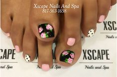 Spring toe designs toe nails designs toe nails, nails и toe Pretty Toe Nails, Cute Toe Nails, Super Cute Nails, Get Nails, Pedicure Designs, Pedicure Nail Art, Toe Nail Designs, Pink Pedicure, Nails Design