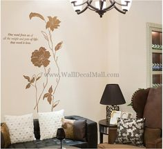 That Word Is Love Flower Wall Decals – WallDecalMall.com