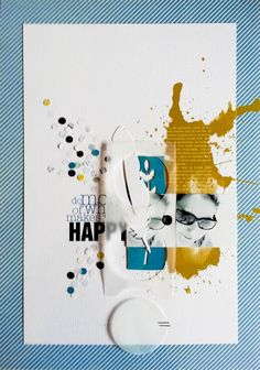 #papercraft #scrapbook #layout. Happy by Maïna at @Studio_Calico