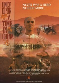 Once Upon A Time In China – English poster Jet Li, Once Upon A Time, Film China, English Posters, Hong Kong Movie, Kung Fu Movies, Martial Arts Movies, Chinese Movies, Japanese Drama