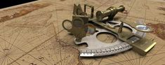 Photo of a sextant.  Credit: Flickr via