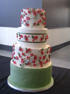 It's like a calico printed cotton, but on a wedding cake!