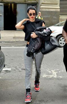 "Rihanna in Jordan Spiz'ike ""Gym Red"""