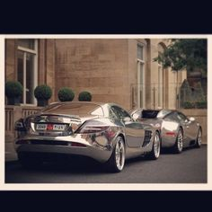 cool Chrome Mercedes SLR and The Amazing Chrome Bugatti Veyron! ✮✮ Please feel fr...  Just Cars Check more at http://autoboard.pro/2017/2017/01/28/chrome-mercedes-slr-and-the-amazing-chrome-bugatti-veyron-%e2%9c%ae%e2%9c%ae-please-feel-fr-just-cars/