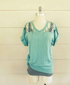 Lattice-studded T-shirt | 27 Awesomely Cheap Ways To Transform A T-Shirt