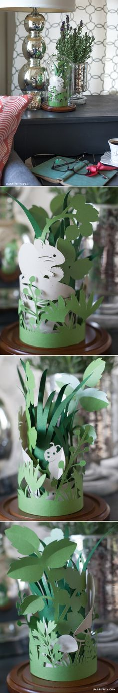 Bring outside in! #paperart #paperflowers at www.LiaGriffith.com