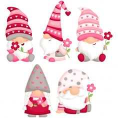 Valentine Decorations, Valentine Crafts, Valentine Day Cards, Be My Valentine, Christmas Gnome, Christmas Crafts, Gnome Paint, Banner Drawing, Free Vector Art