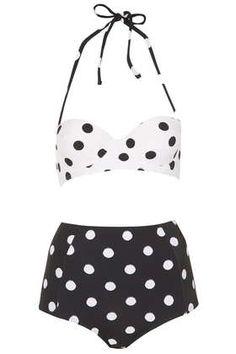 Black and White Spot Bikini