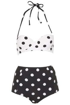 Black and White Spot Bikini