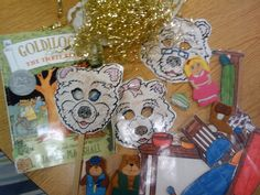 Creating GOLDILOCKS props to help with retelling standards: K.RL.1, K.RL.2, K.RL.3 (key details, characters, setting and events)