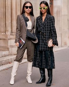 📸: @thestylestalkercom PFW SS20 Fashion Week Paris, Cooler Look, Iconic Women, Trends, Skinny, Suits, Fashion Models, Fashion Photography, Suit Jacket