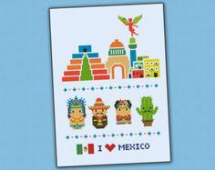 Cute little Mexican Band PDF cross stich pattern от cloudsfactory