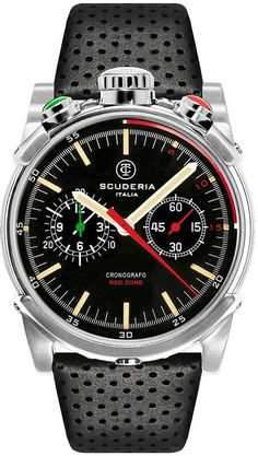 CT Scuderia Watch Italia #bezel-fixed #bracelet-strap-leather