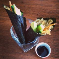 Vegetable quinoa hand rolls