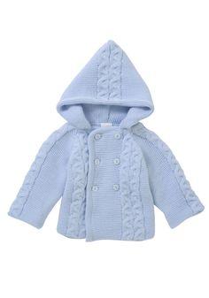 Zip Zap Chunky knit hooded cardigan