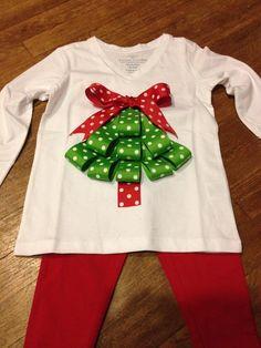 Christmas tree ribbon shirt                                                                                                                                                                                 More