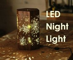 This LED nightlight features a star pattern and it lights up a dark room in a magical way. I used ipe for the wood, however any dark wood, or painted MDF for example would work well. This is a really fun project and would be great as an accent light in a room, in the middle of a table, or as a night light in the bedroom.