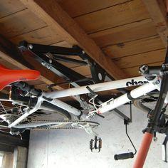 Hide-A-Ride Ceiling Bike Rack #bike, #ingenious, #rack