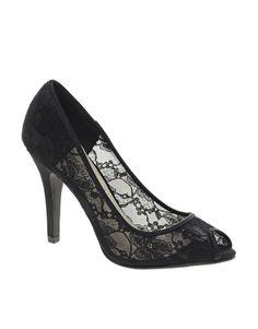 New Look Veil Lace Peep Toe Heeled Sandals