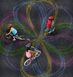 Chalk trail-- chalk attachment for your bike.