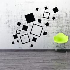 Stickers muraux design - Sticker mural carrés | Ambiance-live.com