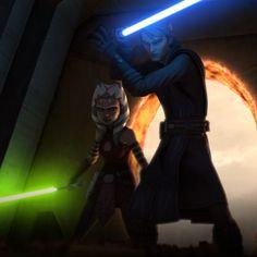 Ahsoka and Anakin