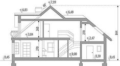 Ariadna I - Dobre Domy Flak & Abramowicz The Plan, How To Plan, Civil Construction, House Design Pictures, Simple House Design, Minimalist Home, Decoration, House Plans, Floor Plans