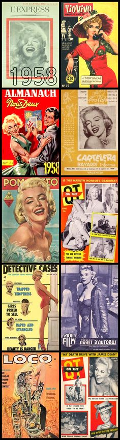 1958 magazine covers of Marilyn Monroe .... #normajeane #vintagemagazine #pinup #iconic #raremagazine #magazinecover #hollywoodactress #monroe #marilyn #1950s