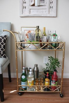 Sugar and Chic: I Heart My Bar Cart