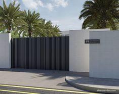 Stones Jordan - comprehensive decoration and design solutions Gate Wall Design, House Fence Design, Front Gate Design, Main Gate Design, Entrance Design, Modern Entrance Door, House Entrance, Gate Designs Modern, Gate House