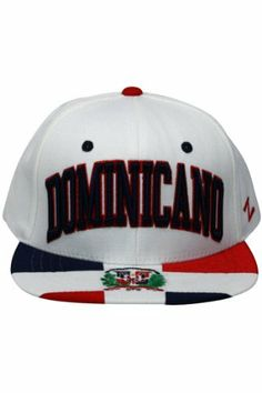 Dominican Republic Super Star Snapback Cap, White by Zephyr. $29.99. Adjustable snapback hat. Country Snapback. Memory visor. 65% Acrylic / 35% Wool. Zephyr snapbacks are constructed to meet the desires of the consumer. Zephyr hats feature professional embroidery and detailed raised logos. The Zephyr Memory Visors are constructed with the best materials allowing you to bend the brim or keep it flat.  About Zephyr Zephyr was established in 1993 by former retailers who were fr...