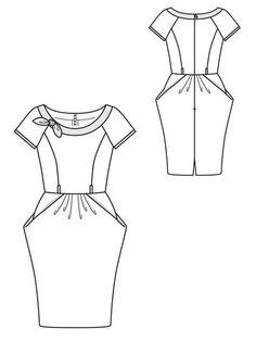 burda tulip dress