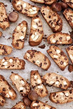 ... cantuccini (chestnut flour, almonds and chocolate biscotti) ...