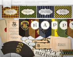 Harry Potter Party Printables // DIY
