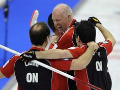 Glenn Howard, centre, will be skipping his powerhouse rink at the Brier for the eighth straight year, his 15th Brier appearance, including his early years, when he played third on brother, Russ Howard's two-time Canadian and world championship rink. Tim Hortons, Olympic Sports, Winter Olympics, Curlers, World Championship, Michael Jordan, Centre, Third, Brother