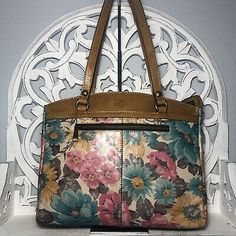 Patricia Nash Poppy Tote First Bloom Leather | eBay Handbags On Sale, Tote Handbags, Patricia Nash, Embossed Logo, Italian Leather, Louis Vuitton Monogram, Poppy, Bloom, Best Deals