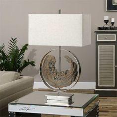 Ambler Driftwood Lamp   www.selecthomedecorandmore.com