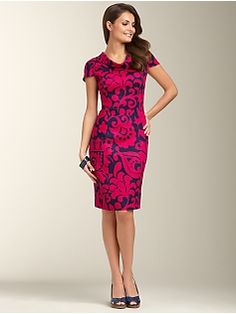 Perfect work to night out on the town dress from @Marissa Hereso Bettancourt. Plus the colors will turn some heads!
