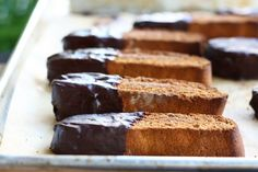 Gingerbread Biscotti - mmmm to the chocolate on the end
