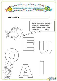 Caderno de Atividades Língua Portuguesa Projeto no Fundo do Mar grátis para imprimir | Ideia Criativa - Gi Barbosa Educação Infantil