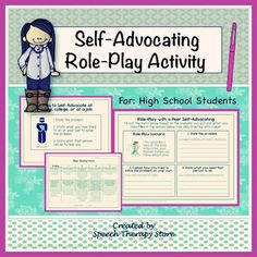 Worksheet Self Advocacy   Worksheets   Elementary Students a self advocacy script i use with my students no writing required speech therapy role play activity for high school students