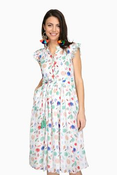 White Leaves Lily Dress