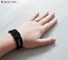 Hey, I found this really awesome Etsy listing at https://www.etsy.com/listing/113901855/french-knitted-cotton-bracelet-black